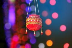 Fotografie des Dahis HANDI auf gokulashtami Festival in Indien, das Lord Shri Krishna-` s Geburtstag ist lizenzfreie stockfotografie