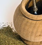 Traditionelles Getränk von Südamerika (Yerba Kamerad) Stockbild
