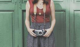 Fotografie-Fotograf Fotograf Camera Concept Stockfoto