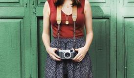 Fotografie-Fotograf Fotograf Camera Concept Lizenzfreies Stockbild