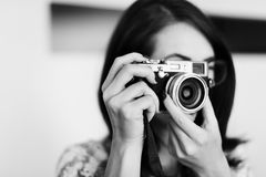 Fotografie-Fotograf Fotograf Camera Concept Lizenzfreies Stockfoto