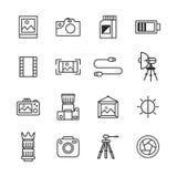 Fotografie-Ikonen Lizenzfreies Stockbild