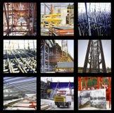 Fotografie istantanee del gruppo della costruzione Fotografia Stock