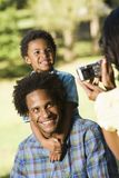 Fotografie istantanee della famiglia. Immagine Stock