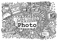 Fotografie kritzelt Elemente lizenzfreie abbildung