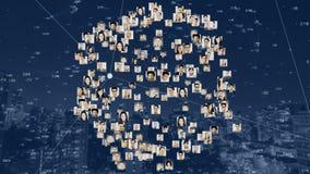 Fotografie ludzie kształtowali w płodozmienną kulę ziemską ilustracji