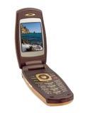 Fotografie op het telefoonscherm Stock Fotografie