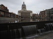 Fotografie van de de Stads de lange blootstelling van Nottingham Stock Foto
