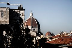 Fotografie van Florence Cathedral, Italië stock afbeelding