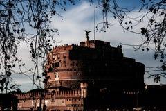 Fotografie van het kasteel van Sant 'Angelo, Rome stock fotografie
