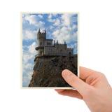 Fotografie van oud kasteel ter beschikking Stock Afbeeldingen