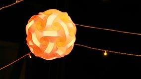 Fotografie van verlichting in een festival voor achtergrondgebruik Royalty-vrije Stock Fotografie