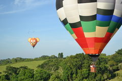 Fotografie von Ballonen und von Landschaft Stockfotografie