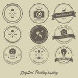 Fotografie-Weinlese kreativer Logo Concept Lizenzfreies Stockbild