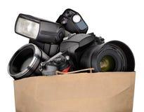 Fotografieausrüstung Lizenzfreies Stockfoto