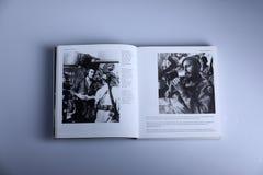 Fotografiebuch durch Nick Yupp, Che Guevara und Fidel Castro lizenzfreie stockbilder