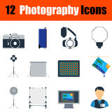 Fotografieikonensatz Lizenzfreies Stockfoto