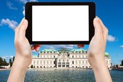 Fotografien oberer Belvedere-Palast in Wien Lizenzfreie Stockbilder