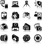 Fotografiepictogrammen Royalty-vrije Stock Foto's