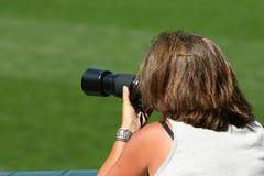 fotografier som tar kvinnan Arkivfoton