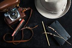 Fotografiereise-Gegenstandsatz Stockbilder