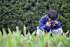 Fotografieren der Blumen Lizenzfreies Stockbild