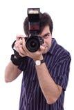 Fotografieren des jungen Mannes Lizenzfreie Stockfotografie