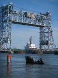 Fotografieren des Schiffes stockfoto
