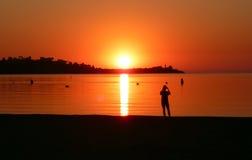 Fotografieren des Sonnenaufgangs Lizenzfreie Stockbilder
