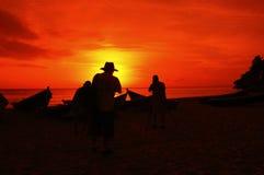 Fotografieren des Sonnenuntergangs Lizenzfreies Stockbild