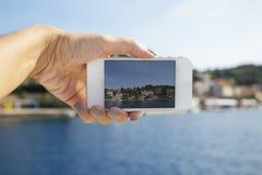 Fotografieren mit intelligentem Telefon Lizenzfreies Stockbild