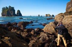 Fotografieren an zweiter Stelle Strand-Olympischen N.P. Lizenzfreies Stockfoto