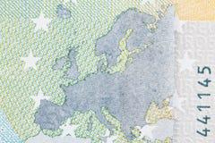 Fotografiertes Nahaufnahmegeld der Europäischen Gemeinschaft Der Nennwert Lizenzfreies Stockbild