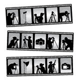 Fotografifilmstrip vektor illustrationer