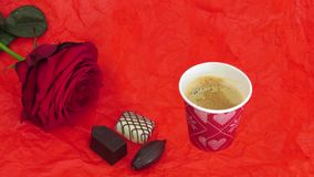 Fotografii animacja z filiżanka kawy zbiory