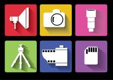 Fotografii biznesowe ikony ustawiać ilustracji