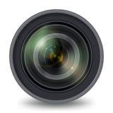 Fotografii kamera wideo obiektywu odosobniony frontowy widok royalty ilustracja