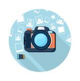Fotografii kamera z obrazkami Fotografia Stock