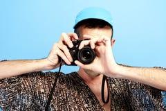 Fotografii kamery facet zdjęcia stock