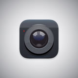 Fotografii kamery ikona Obraz Stock