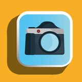 Fotografii kamery ikona Zdjęcia Stock