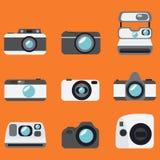 Fotografii kamery ikony Zdjęcie Stock