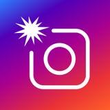 Fotografii kamery znaka ikona z błyskiem Fotografia błyskowy symbol Nowożytna UI strony internetowej nawigacja Obraz Royalty Free