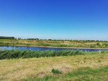 fotografii krajobrazowy łąkowy niebo Zdjęcie Stock