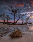 Fotografii panoramy zmierzch cudowny Batam bintan Indonezja fotografia stock