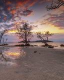 Fotografii panoramy zmierzch cudowny Batam bintan Indonezja zdjęcia royalty free