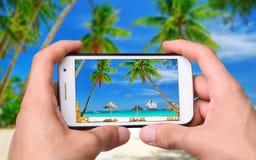 Fotografii plaża Zdjęcia Stock
