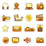 fotografii pomarańczowy wideo Obrazy Stock