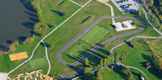 fotografii powietrzna parkowa łyżwa Obraz Stock