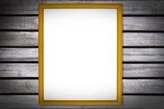 Fotografii rama na Drewnianej teksturze Zdjęcia Stock